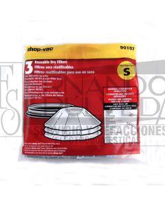 Filtro seco rehusable disco con anillo clave 44027