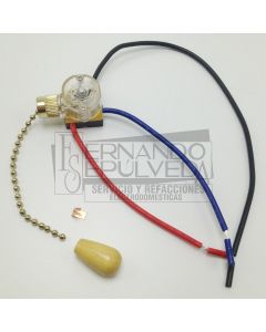 Apagador 2 velocidades 3 puntas para ventilador clave 58135