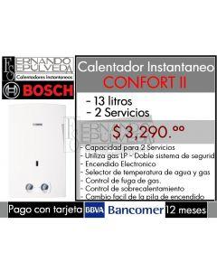 Boiler de paso Bosch Confort SII 13 lt. nat clave 5175