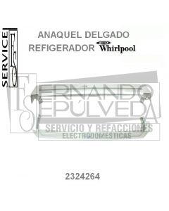 Anaquel con marco blanco para refrigerador Whirlpool 2324264 clave 46126